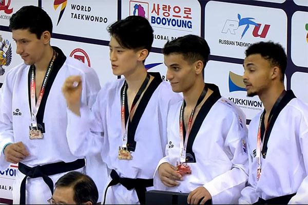 Resultados del Grand Prix Mundial de Taekwondo en la división de M-68kg.
