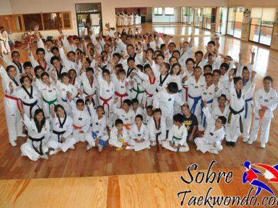 persona que entrena Taekwondo