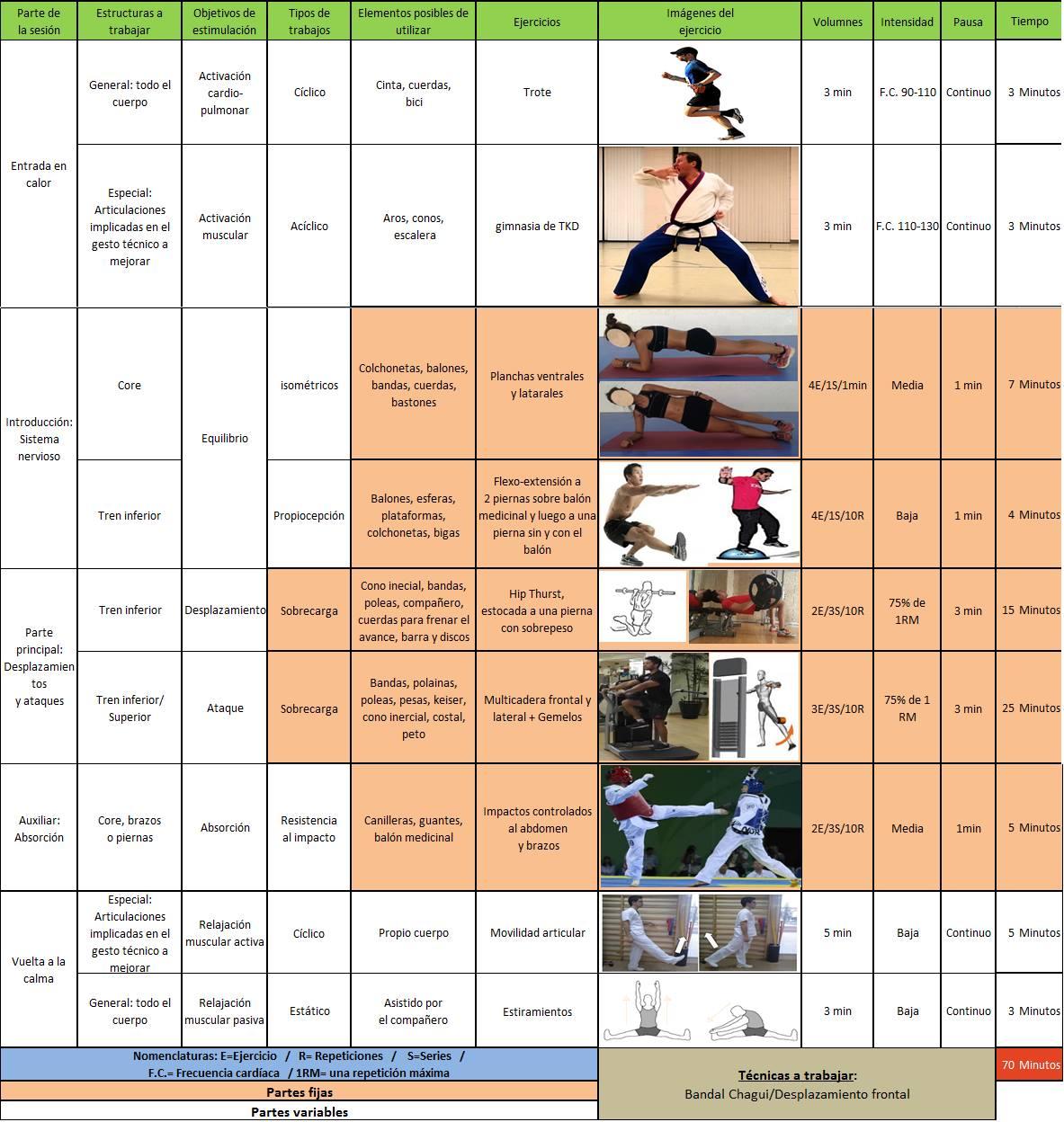El desarrollo de la potencia en el Taekwondo