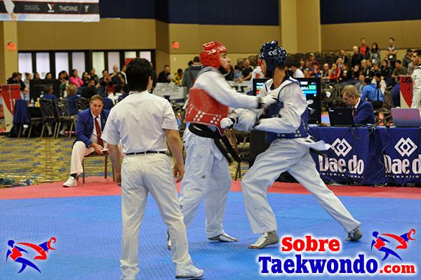 Se permite empujar en el combate de Taekwondo