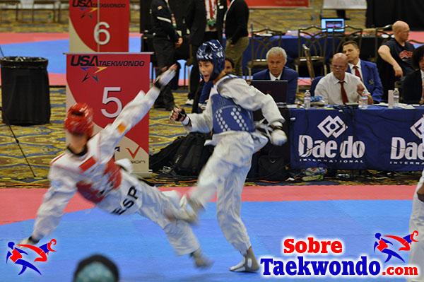 Caida o empujon Tawekwondo
