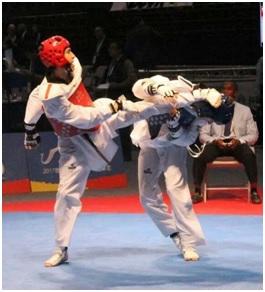 Pateo con pierna adelantada, una tendencia de la competencia en taekwondo.